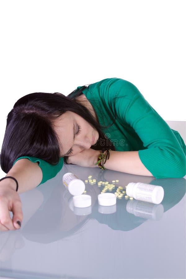 青少年药剂过量的问题 免版税图库摄影