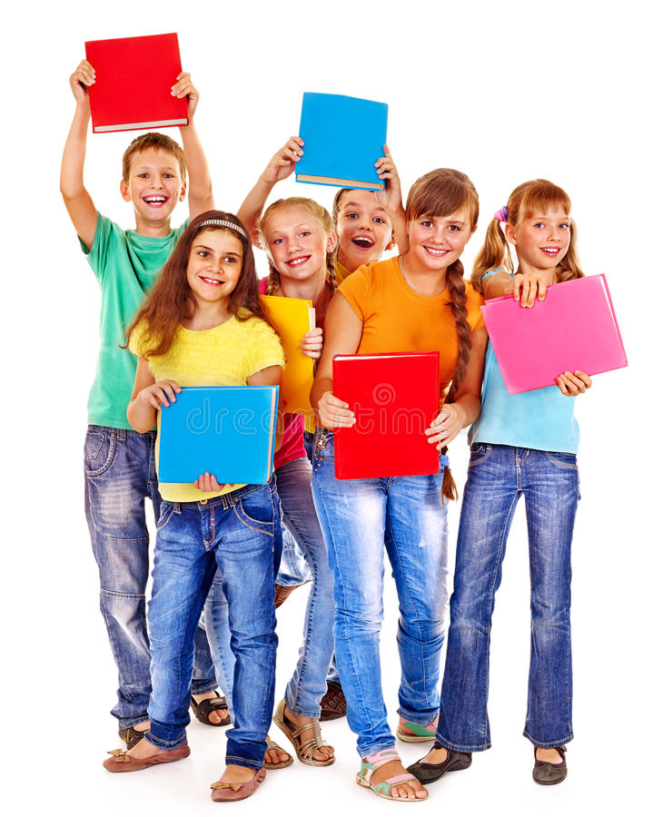 组青少年的人员 库存图片