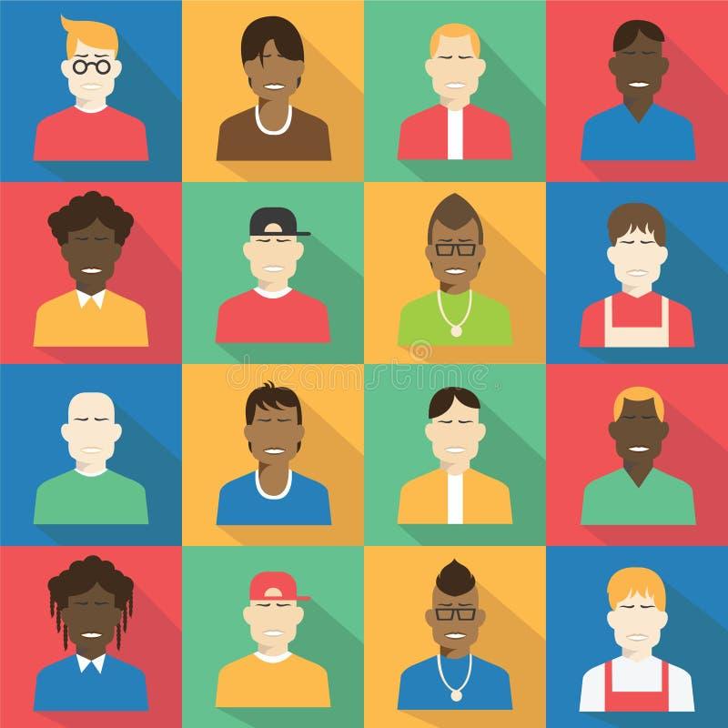 青少年的具体化和人集合 向量例证