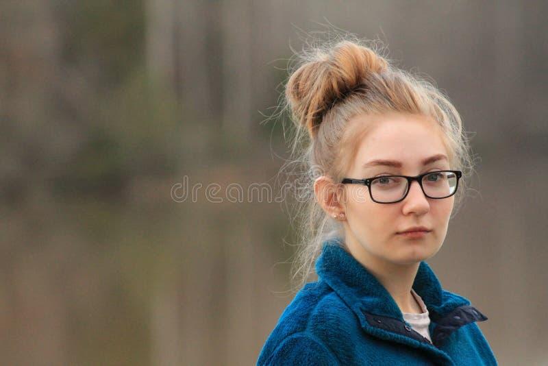 青少年的女孩-态度 库存照片