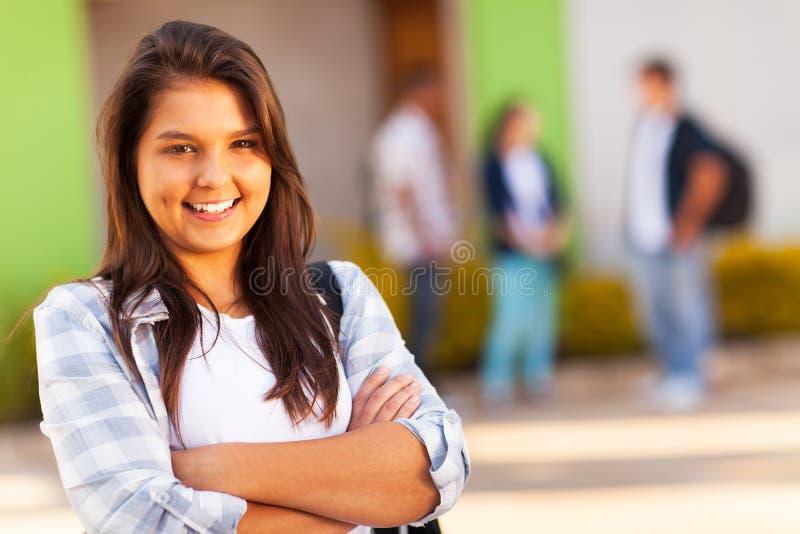 青少年的学校女孩 库存照片