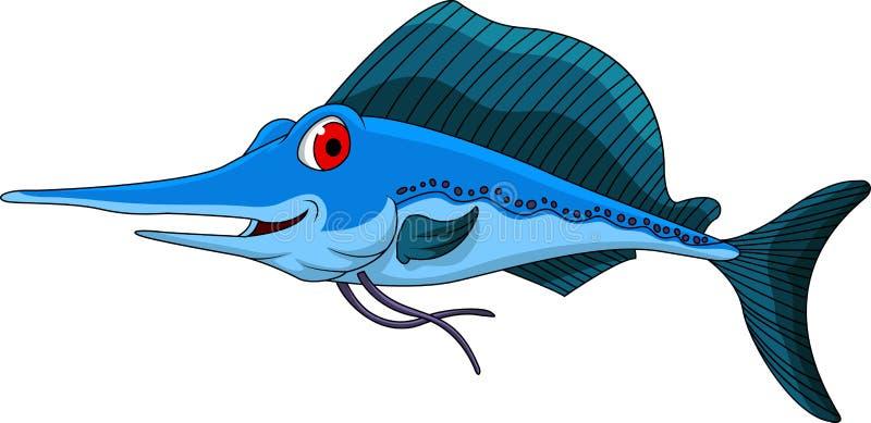 青枪鱼动画片 向量例证