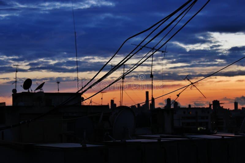 青橙色晚上 图库摄影