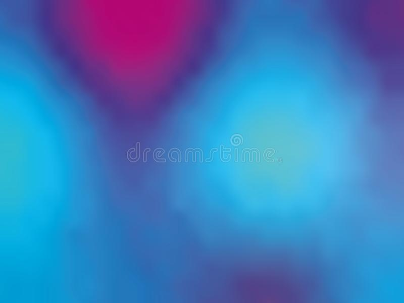 青紫罗兰色梯度全息照相的背景 样式80s - 90s 五颜六色的纹理最小的设计传染媒介例证 库存例证