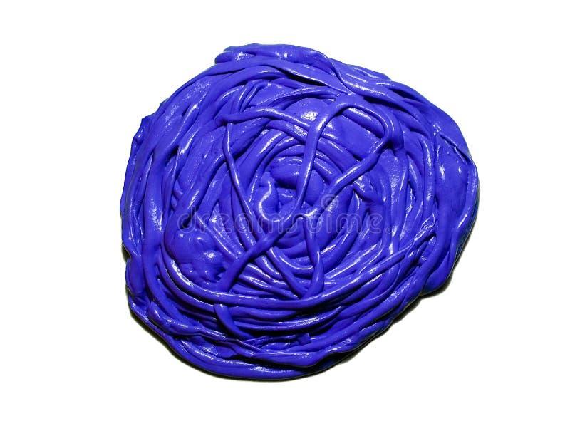 青紫色自创软泥 库存图片
