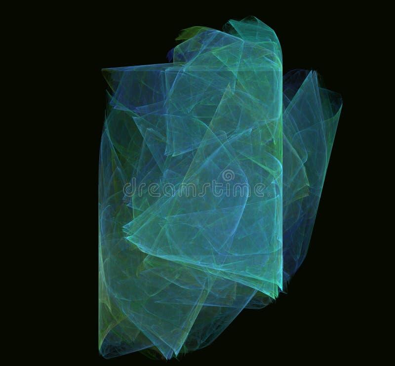 青绿的分数维 幻想分数维纹理 abstact艺术深深数字式红色转动 3d翻译 计算机生成的图象 向量例证