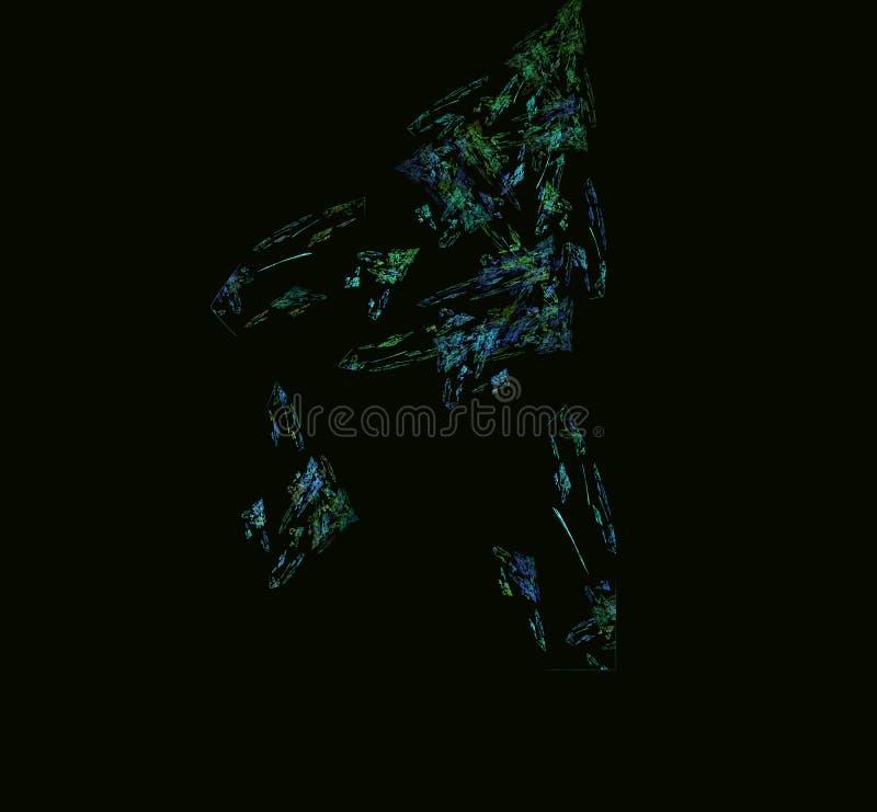 青绿的抽象分数维 幻想分数维纹理 abstact艺术深深数字式红色转动 3d翻译 计算机生成的图象 库存例证