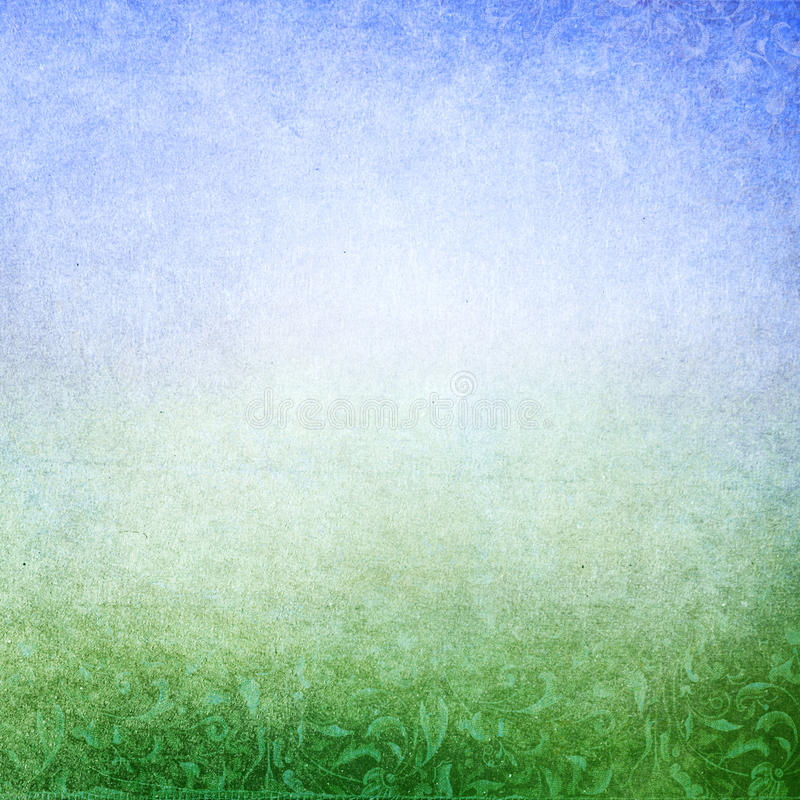 青绿的抽象草甸背景 皇族释放例证