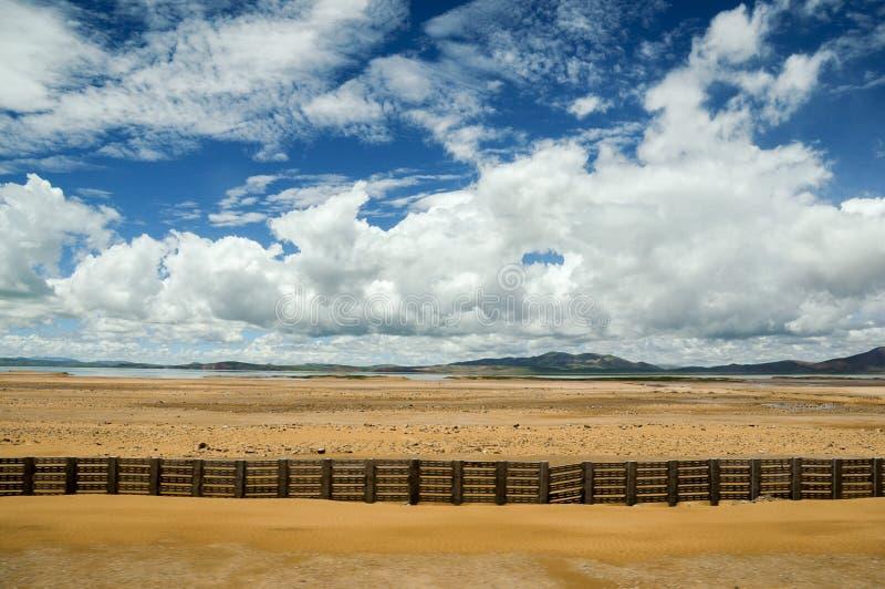 青藏铁路的风景 图库摄影