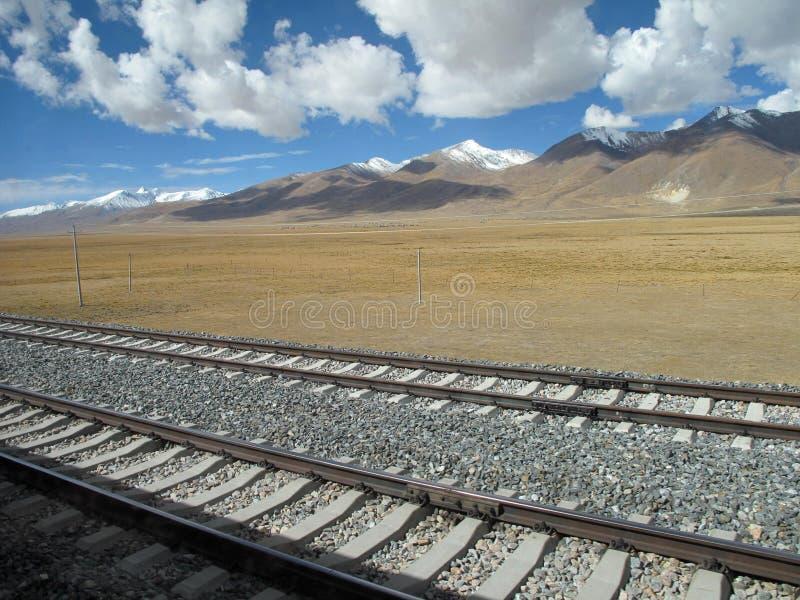青藏铁路 库存图片