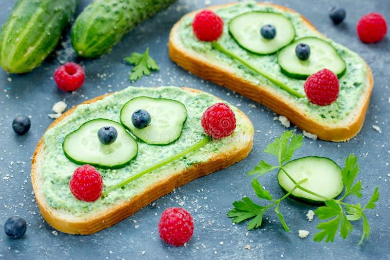 青蛙三明治 库存图片