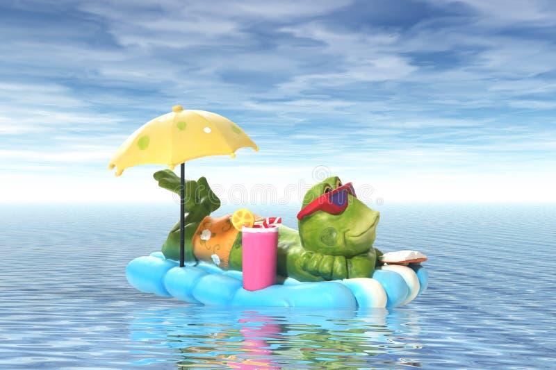 青蛙假期 库存例证