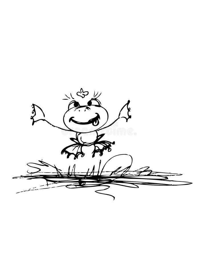 青蛙和蝴蝶 库存例证