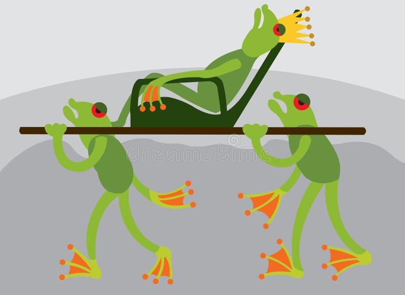 青蛙国王2 库存例证