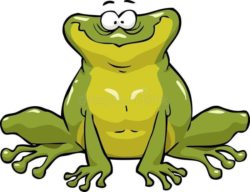 青蛙微笑 向量例证