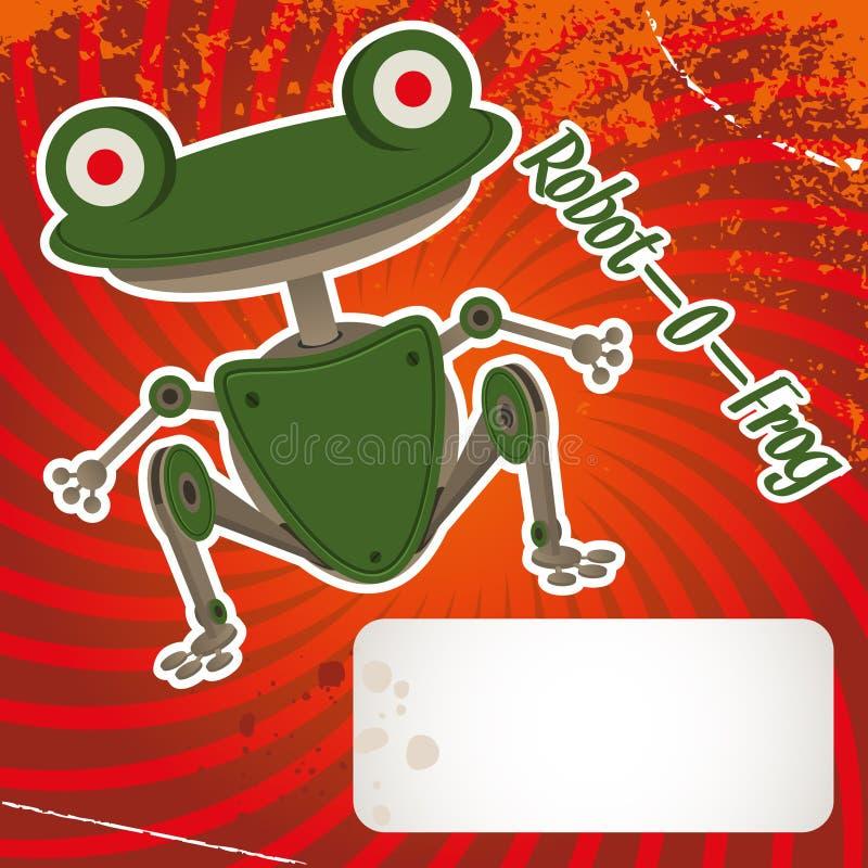 青蛙机器人 库存例证