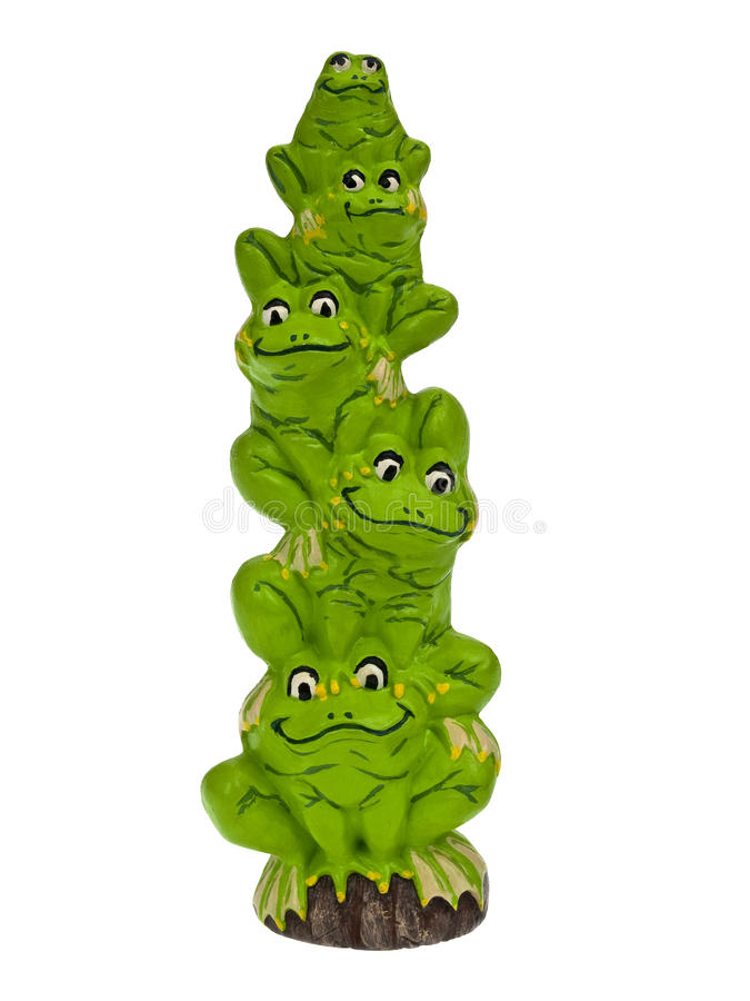青蛙栈 免版税库存照片