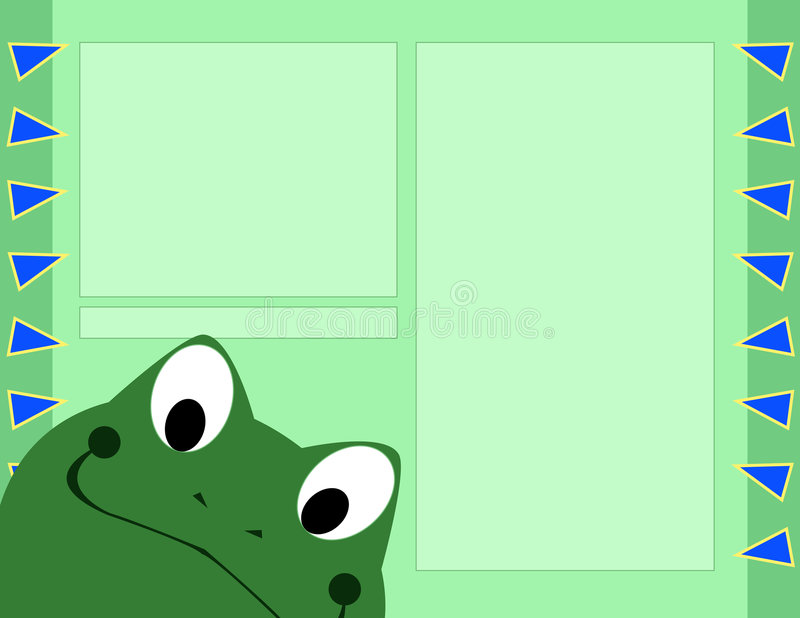 青蛙格式页剪贴薄