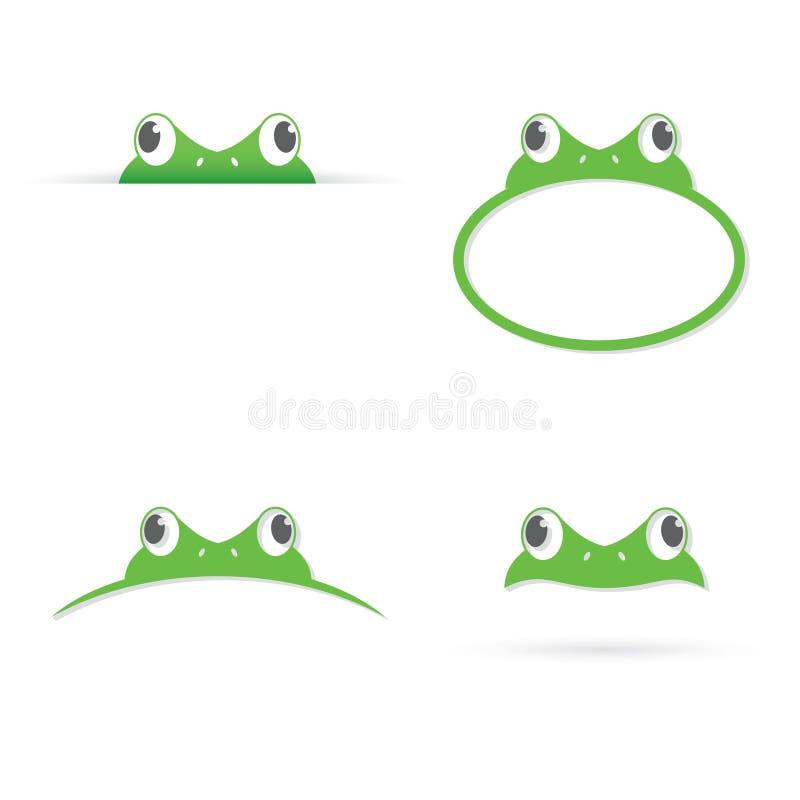 青蛙横幅 皇族释放例证