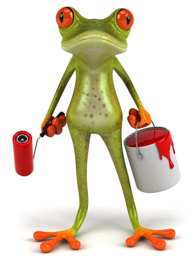 青蛙油漆 库存例证