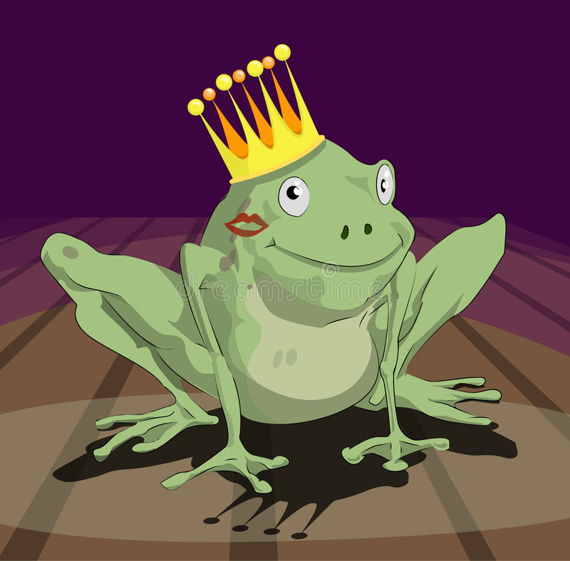 青蛙王子 向量例证