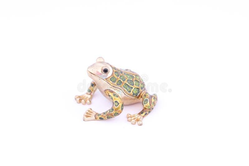 青蛙的图由与秘密的金属制成 库存例证