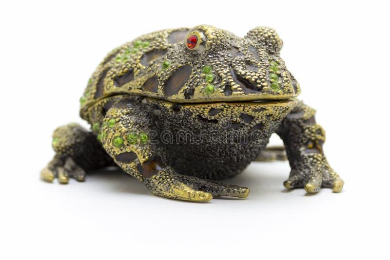 青蛙的小雕象 免版税库存图片