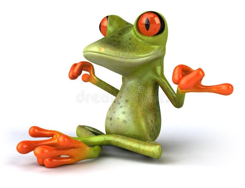 青蛙禅宗 库存例证