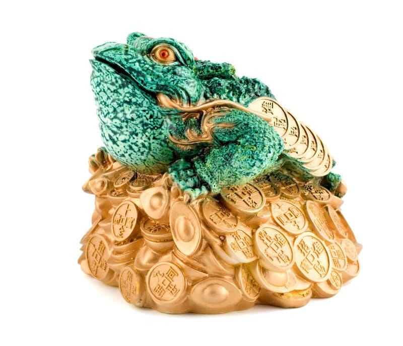 青蛙符号财富 库存照片