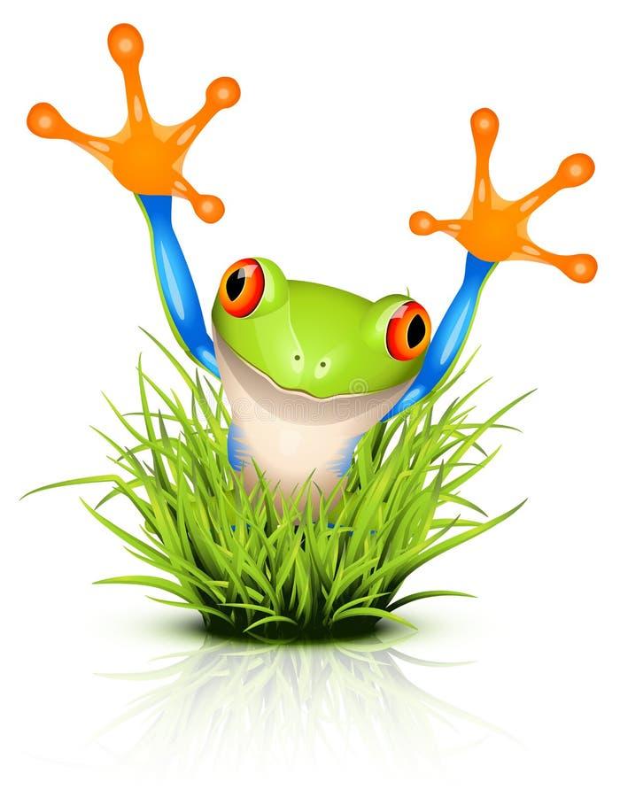 青蛙草少许结构树 库存例证