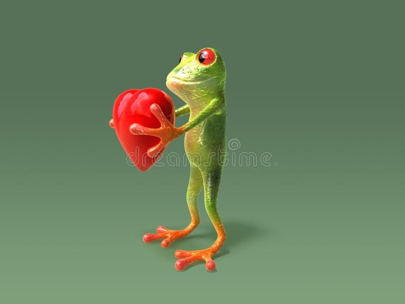 青蛙重点 向量例证