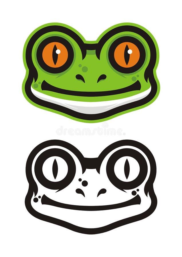青蛙顶头商标 库存照片