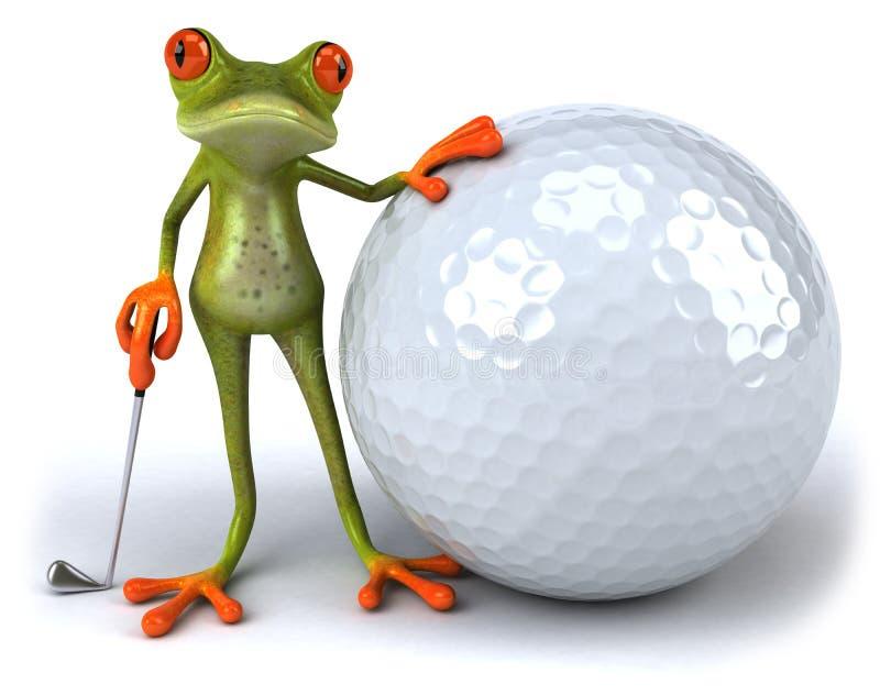 青蛙高尔夫球 向量例证