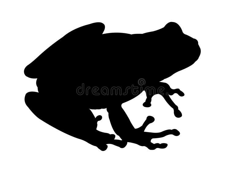青蛙黑剪影 向量例证