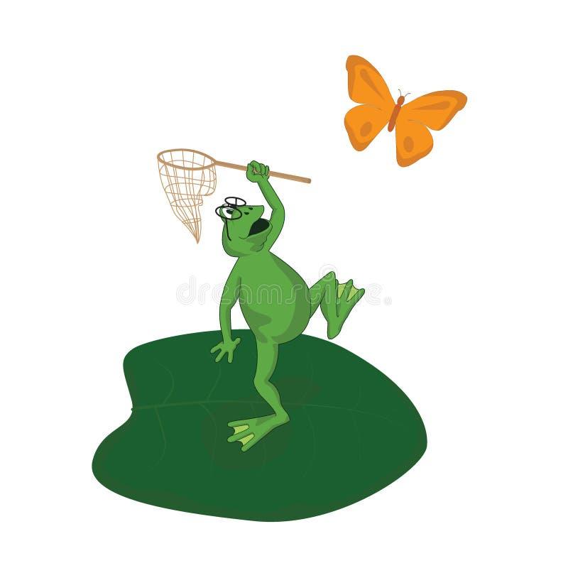 4青蛙 库存例证