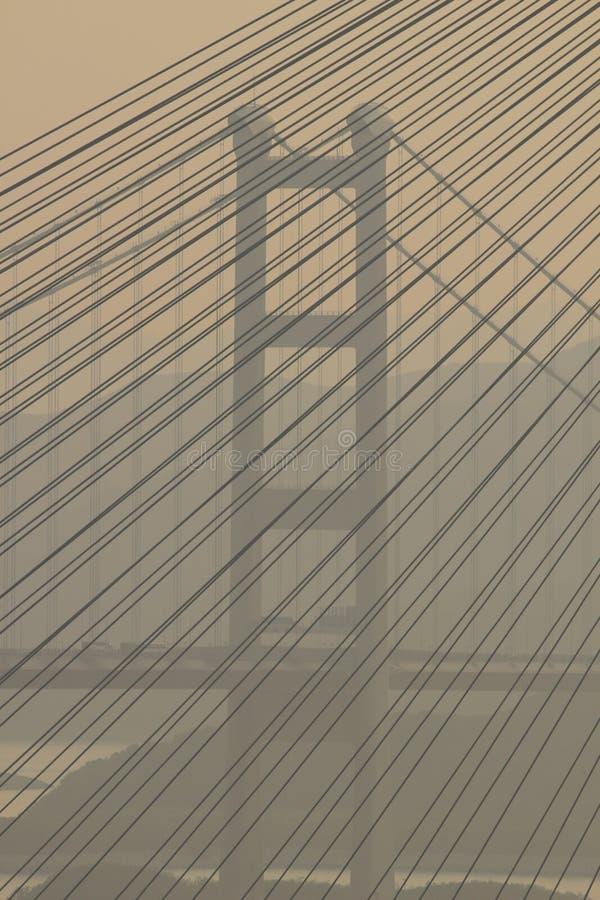 青马大桥,香港2017年 免版税库存图片