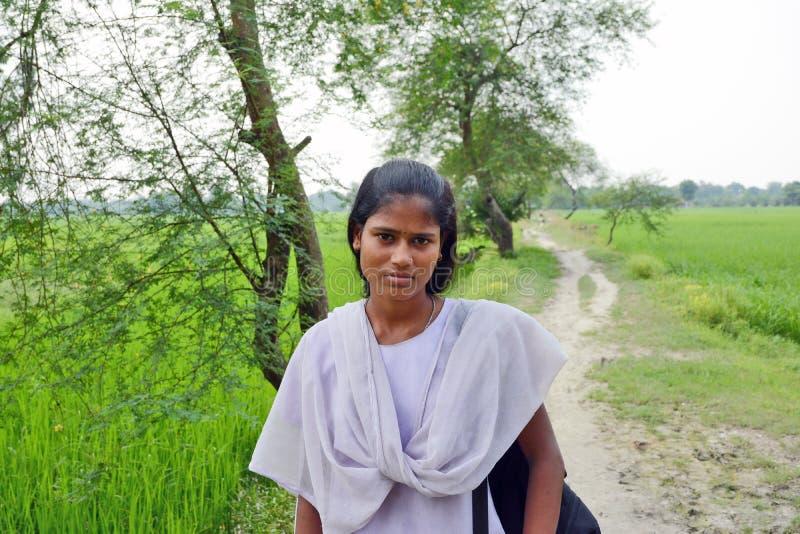 青年期女孩印度 免版税库存图片