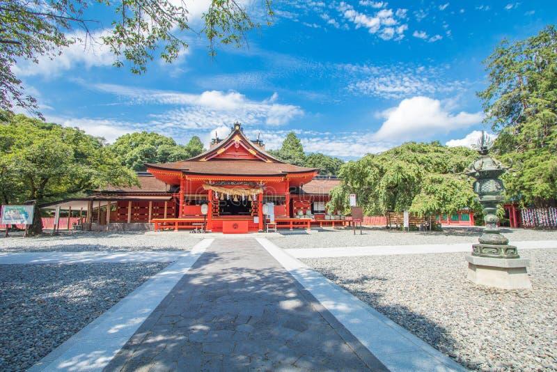 静冈县,日本- 2017年8月19日:Fujisan Sengen Shri 库存照片