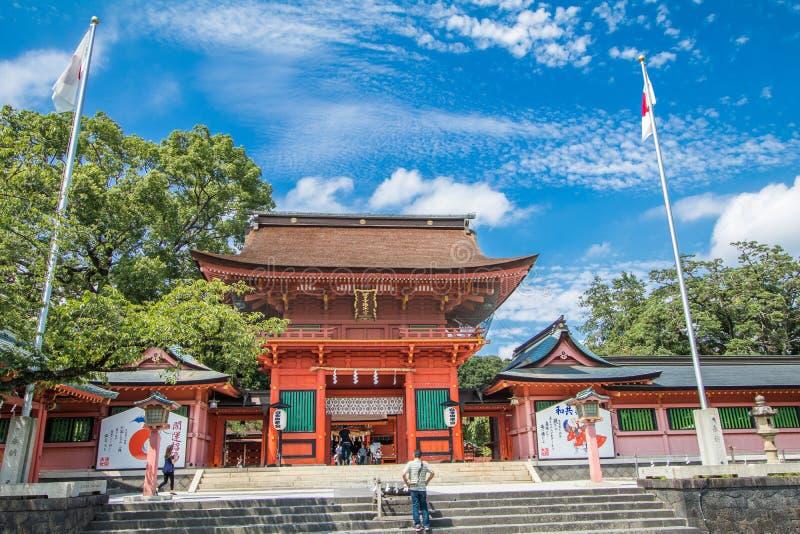 静冈县,日本- 2016年12月18日:Fujisan嘘Sengen 免版税库存照片