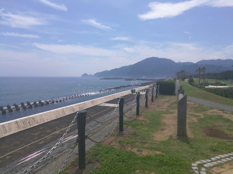 静冈海滩 免版税库存图片