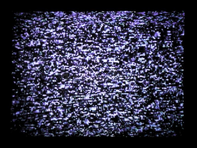 静态电视 免版税库存照片