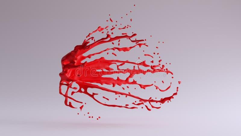 静止画面红色油漆飞溅 皇族释放例证