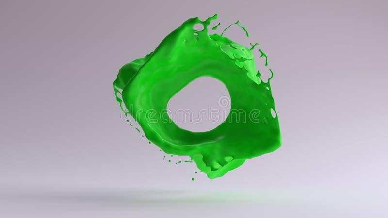静止画面绿色油漆飞溅 皇族释放例证