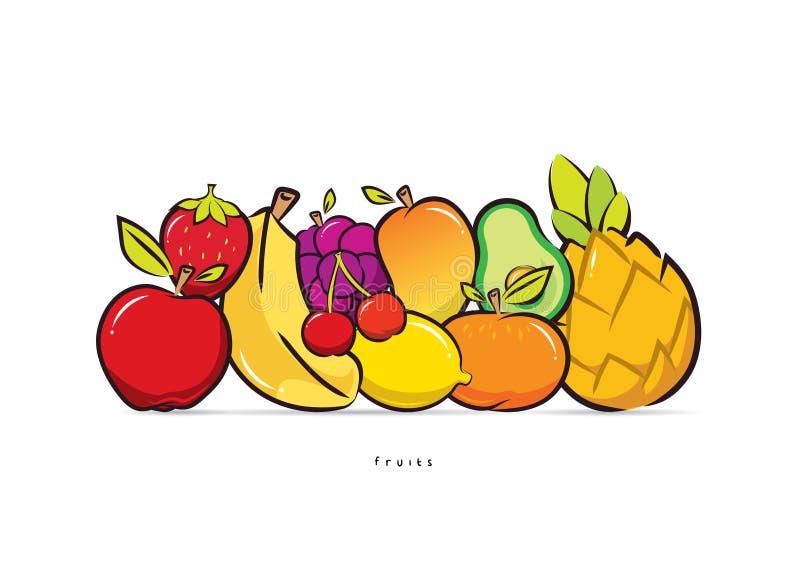 静物画果子设计传染媒介 向量例证