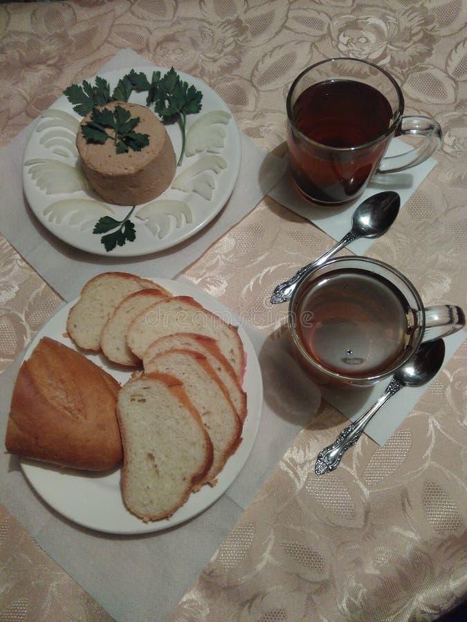 静物画精瘦的早餐 免版税图库摄影