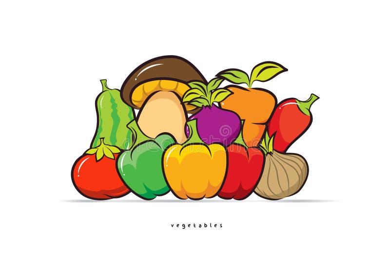 静物画菜设计传染媒介 向量例证