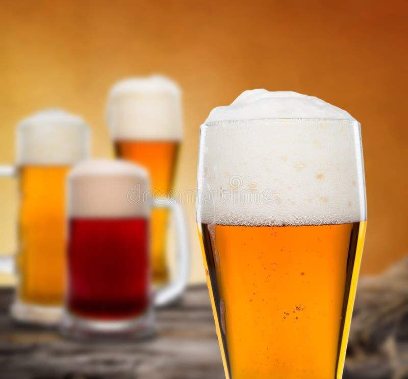 静物画用桶装啤酒 图库摄影
