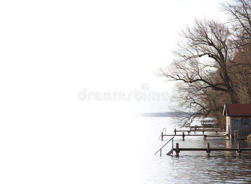静音日的湖 库存图片