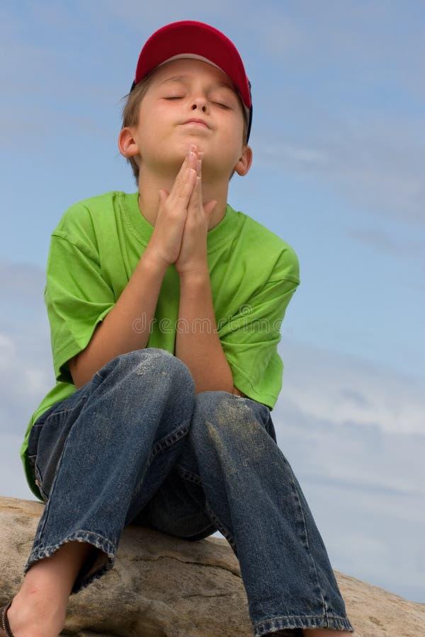 静音的祷告 免版税库存图片