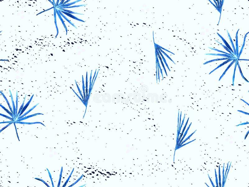 靛蓝异乎寻常的样式 向量例证